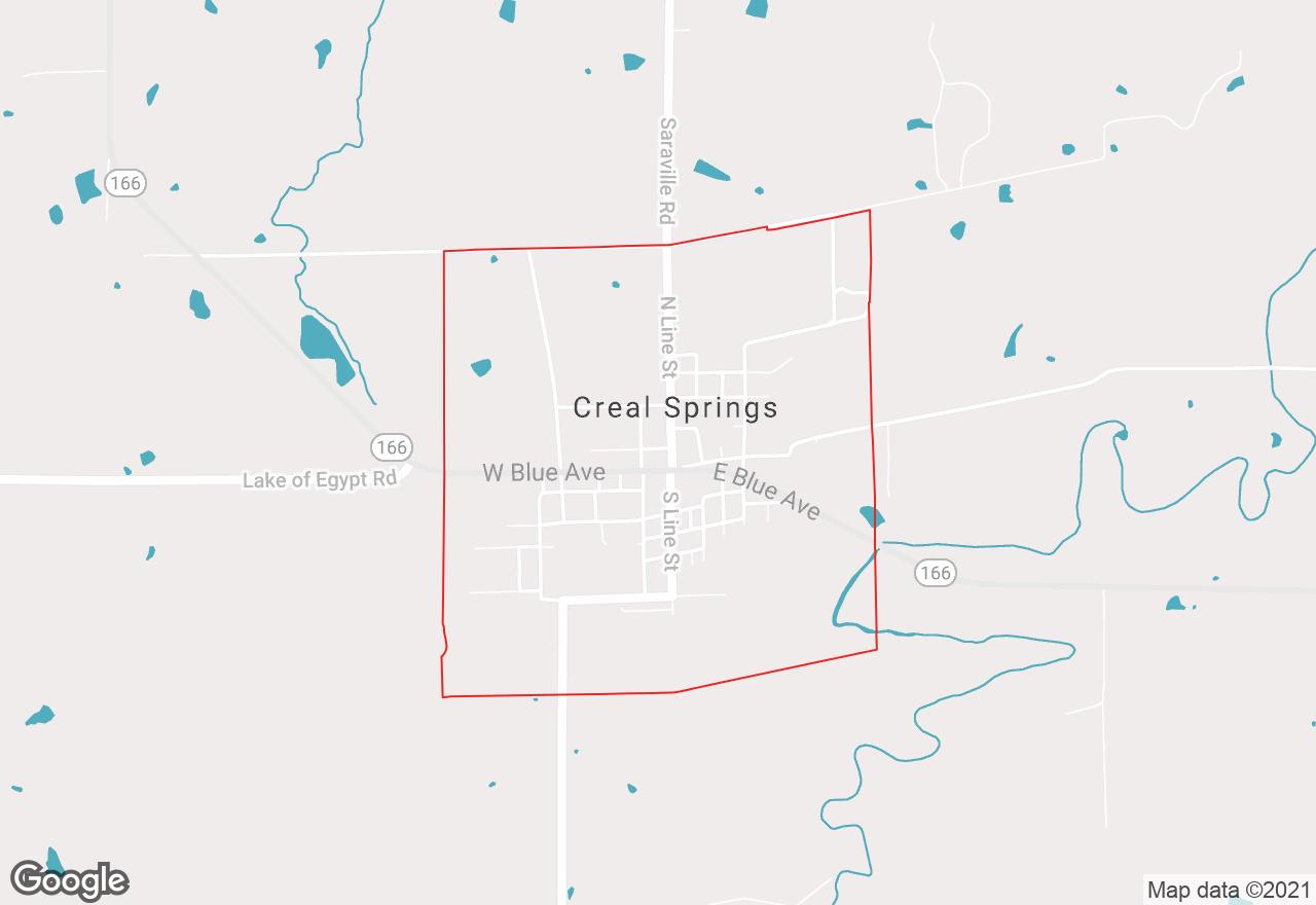 Creal Springs map