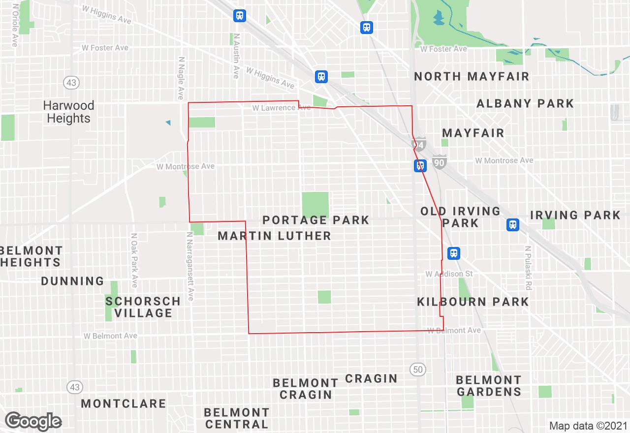 Portage Park map