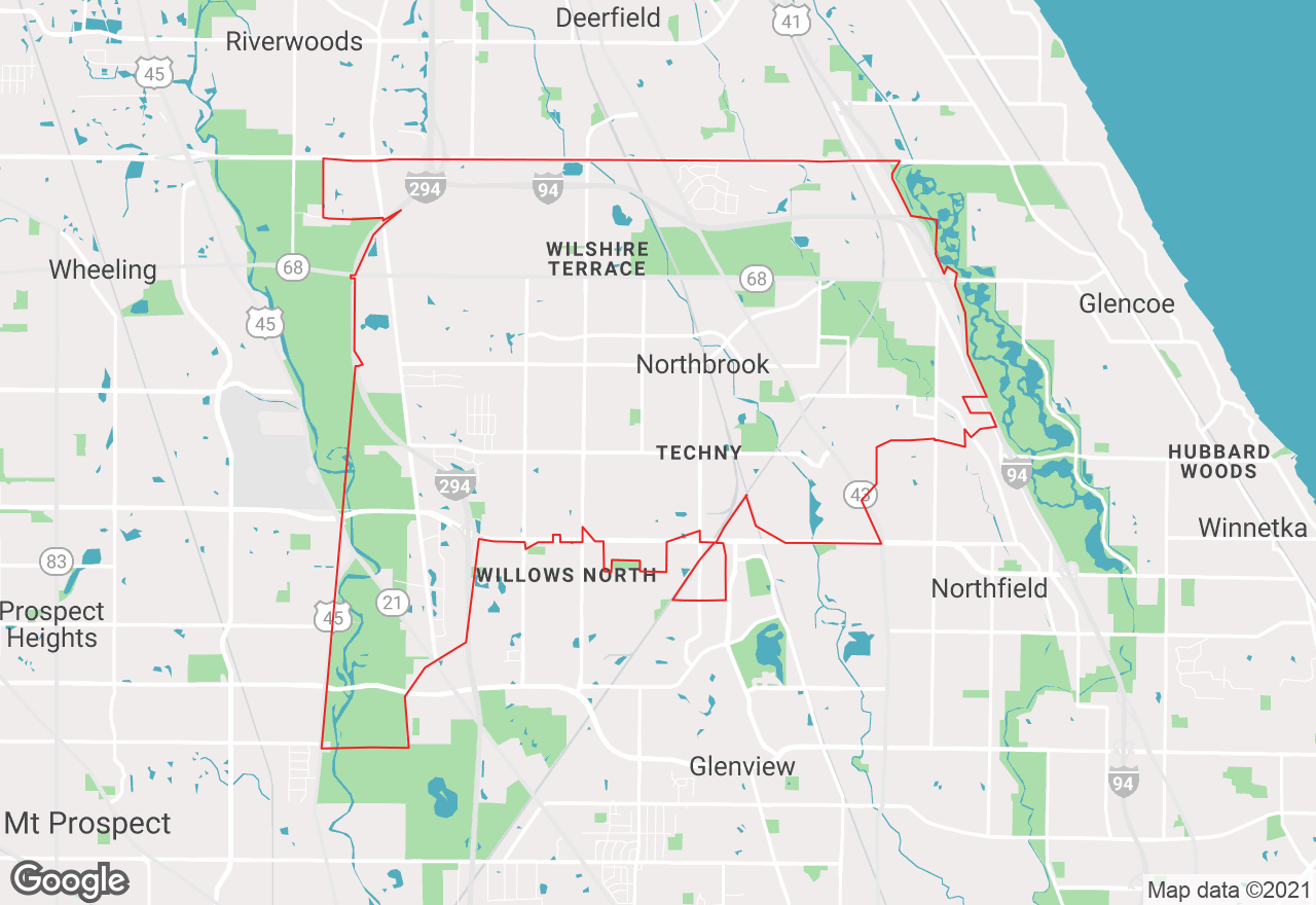 Northbrook map
