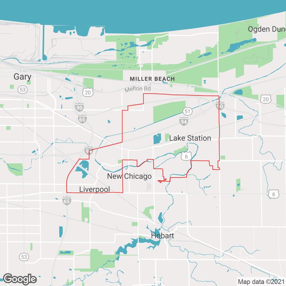 Lake Station map