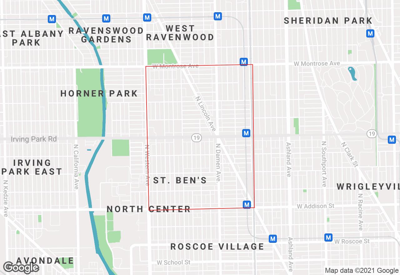 North Center map