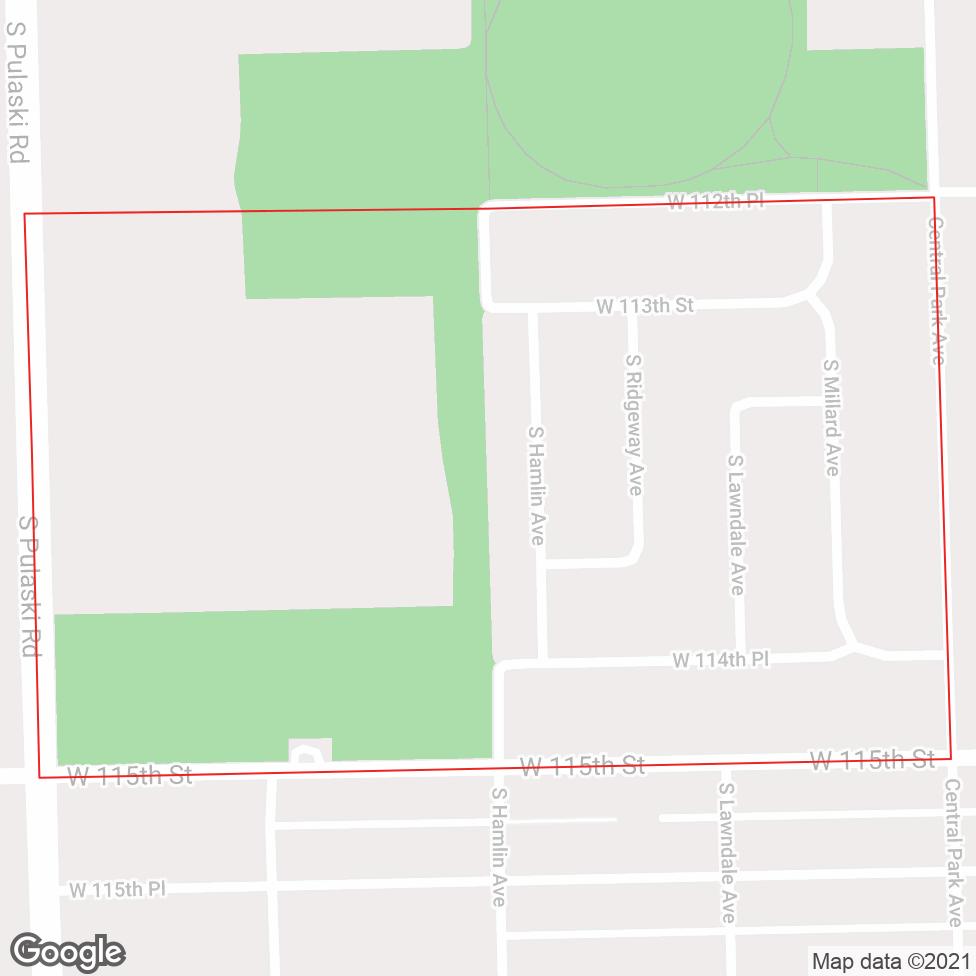 Mount Greenwood Heights map