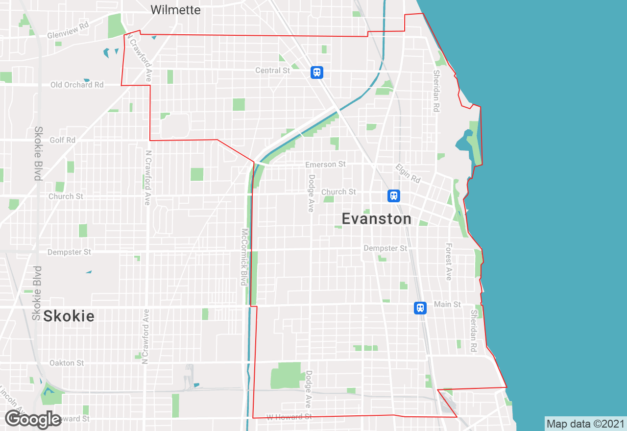Evanston map