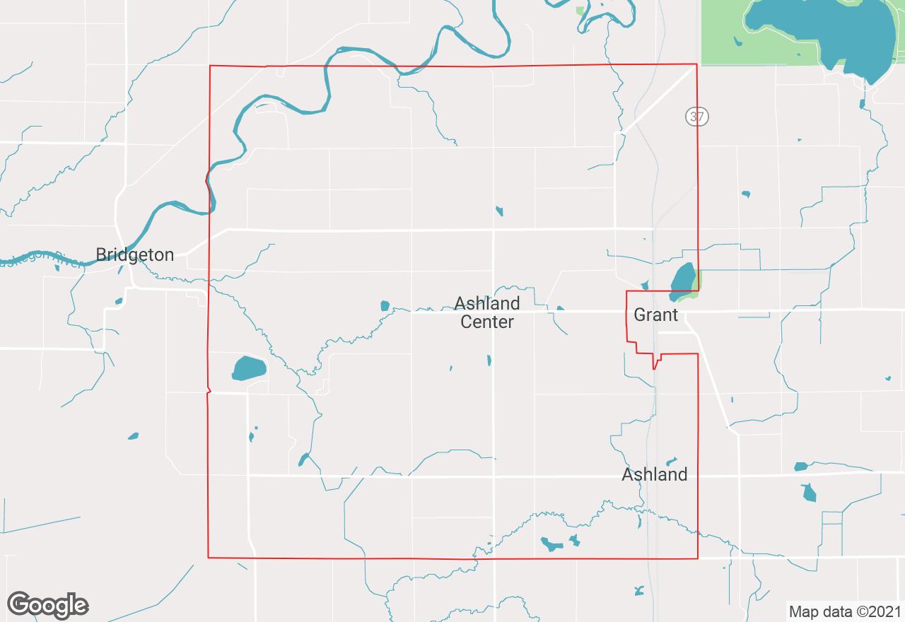 Ashland Township map