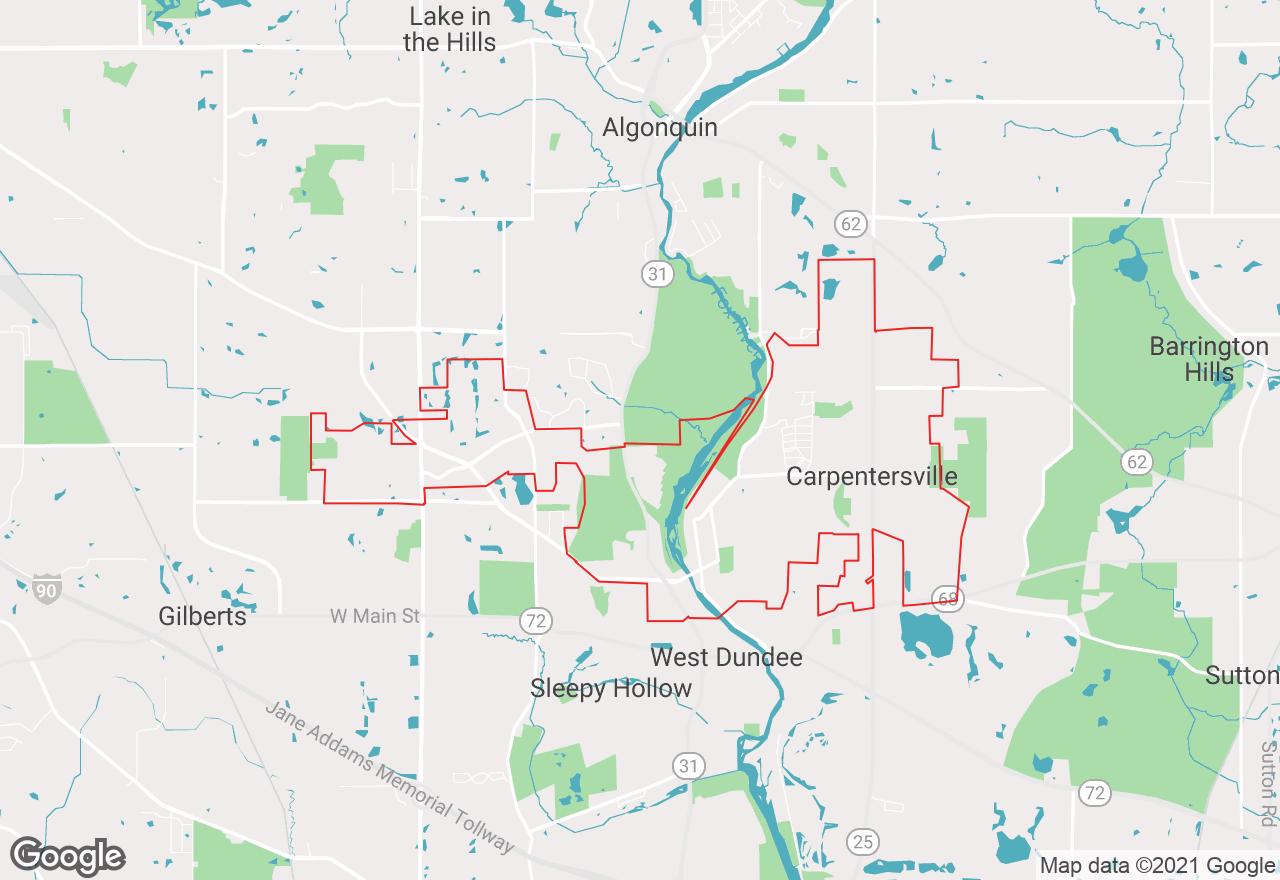 Carpentersville map