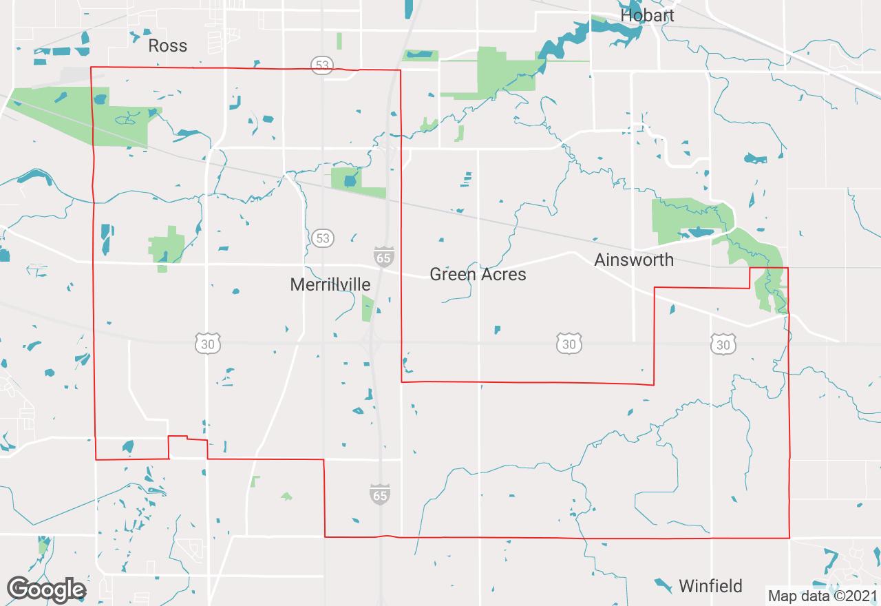 Merrillville map