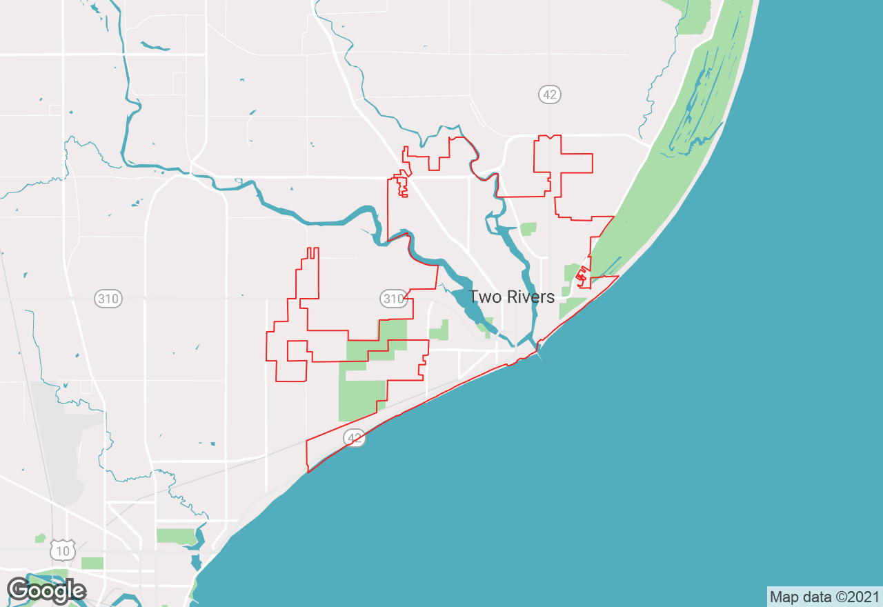 Two Rivers map
