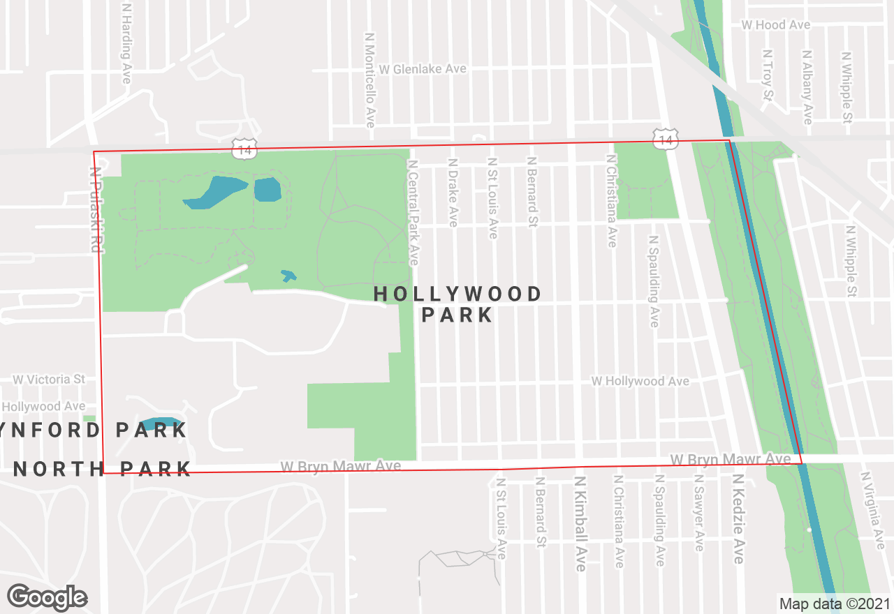 Hollywood Park map