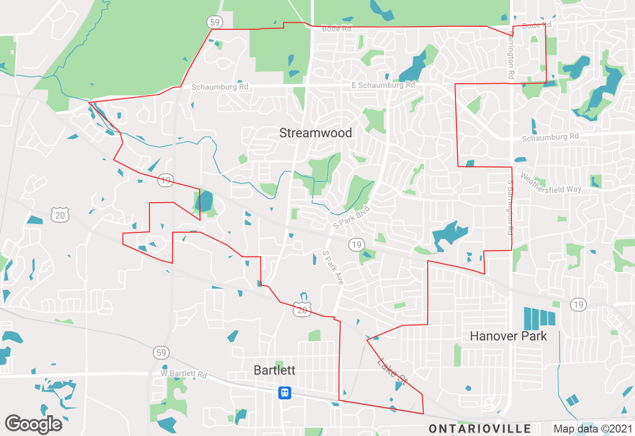 Streamwood map