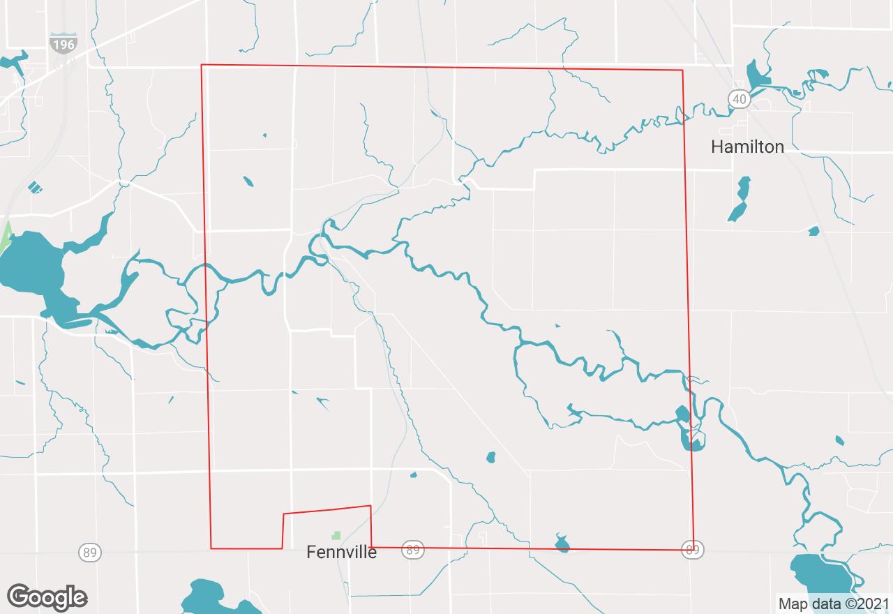 Manlius Township map
