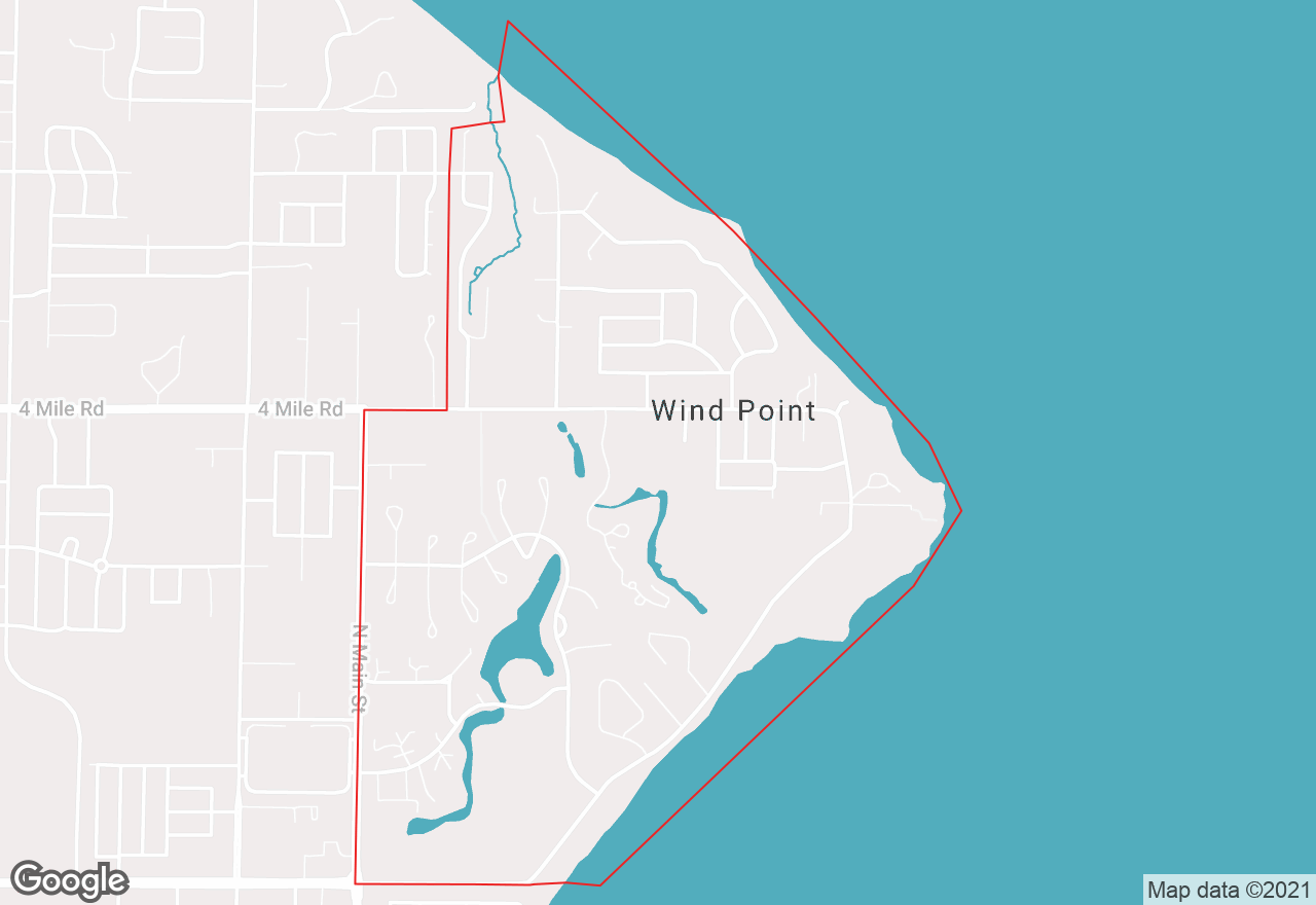 Wind Point map
