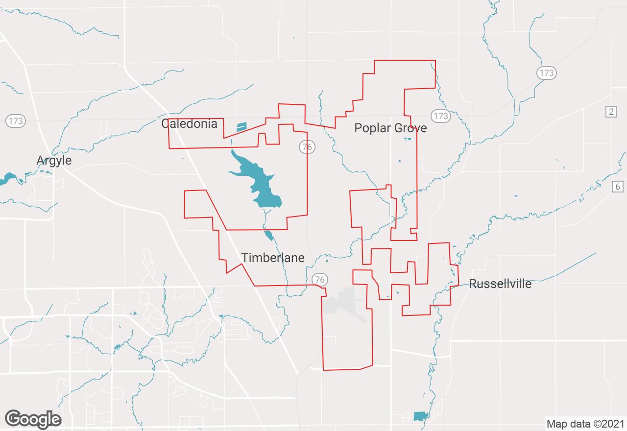 Poplar Grove map