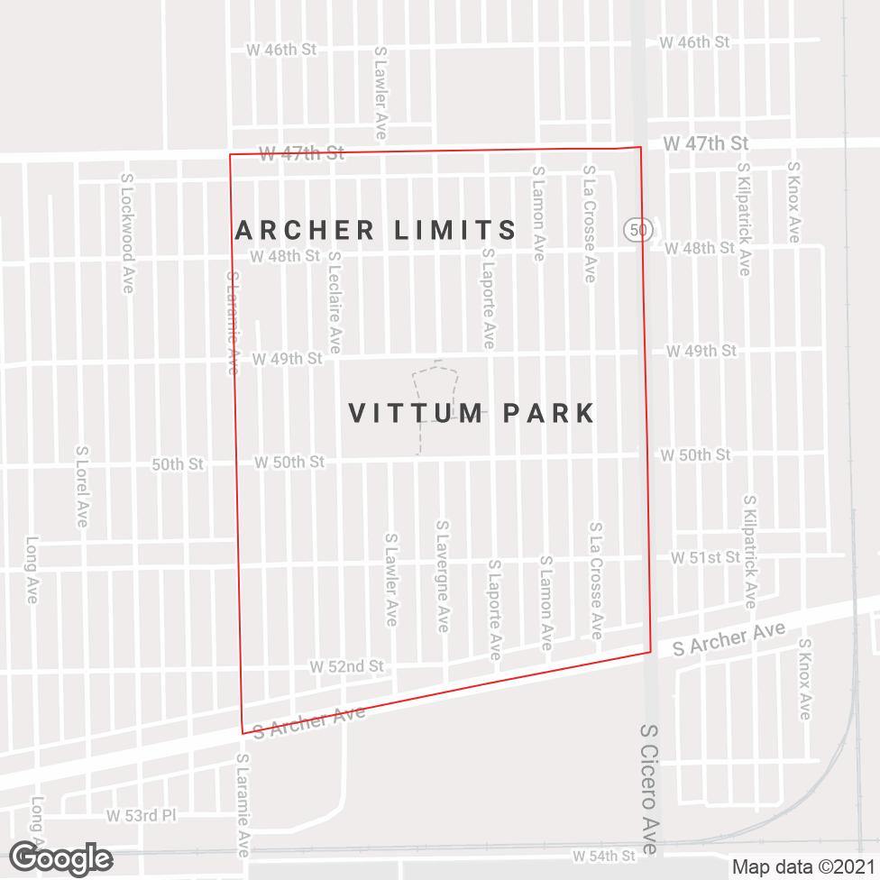 Vittum Park map