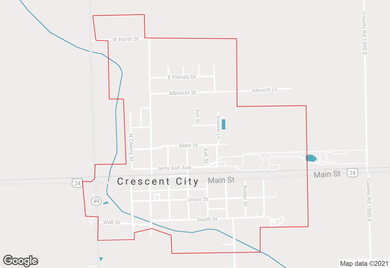 Crescent City map