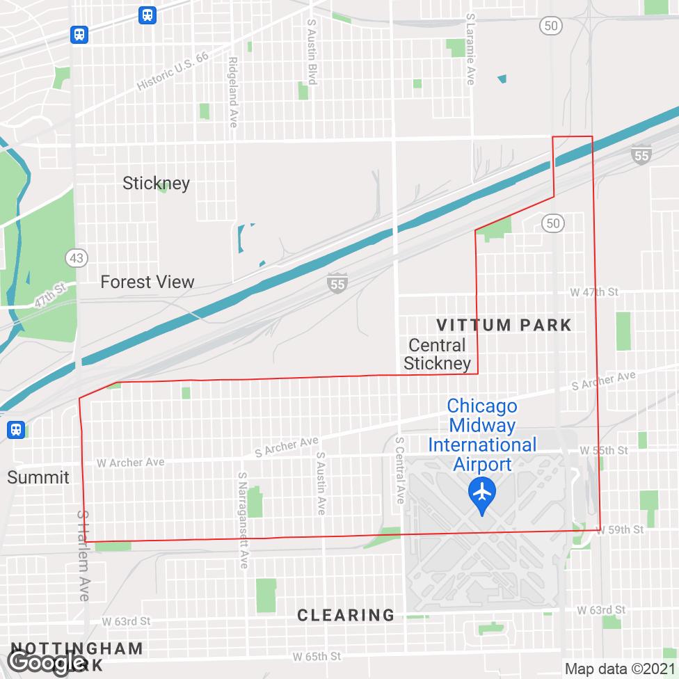 Garfield Ridge map