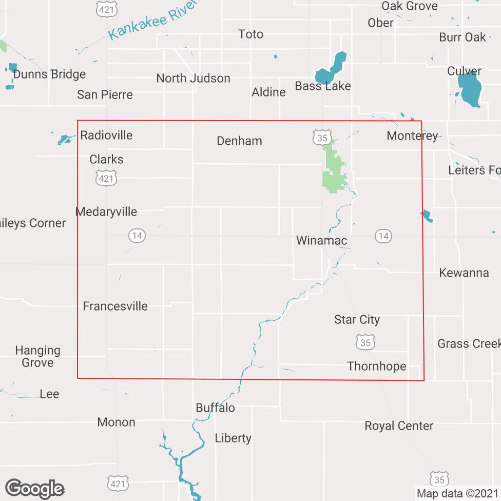 Pulaski County map