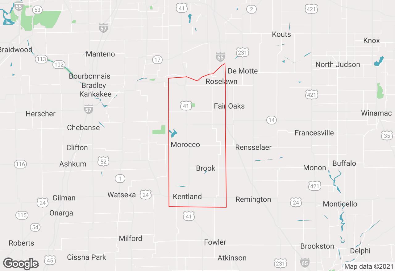 Newton County map