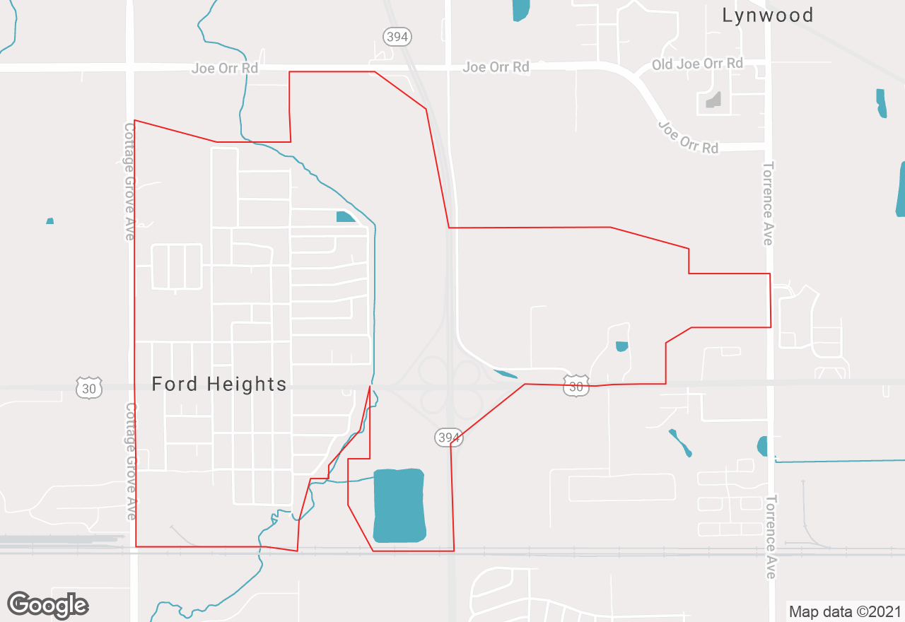 Ford Heights map