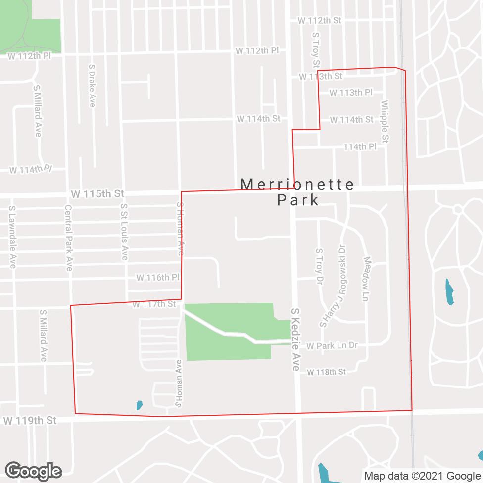 Merrionette Park map