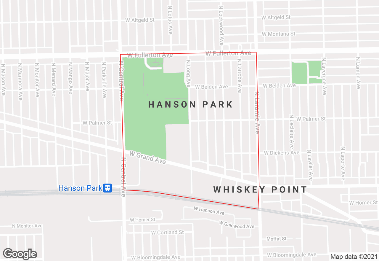 Hanson Park map