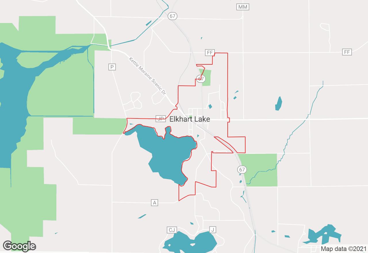 Elkhart Lake map