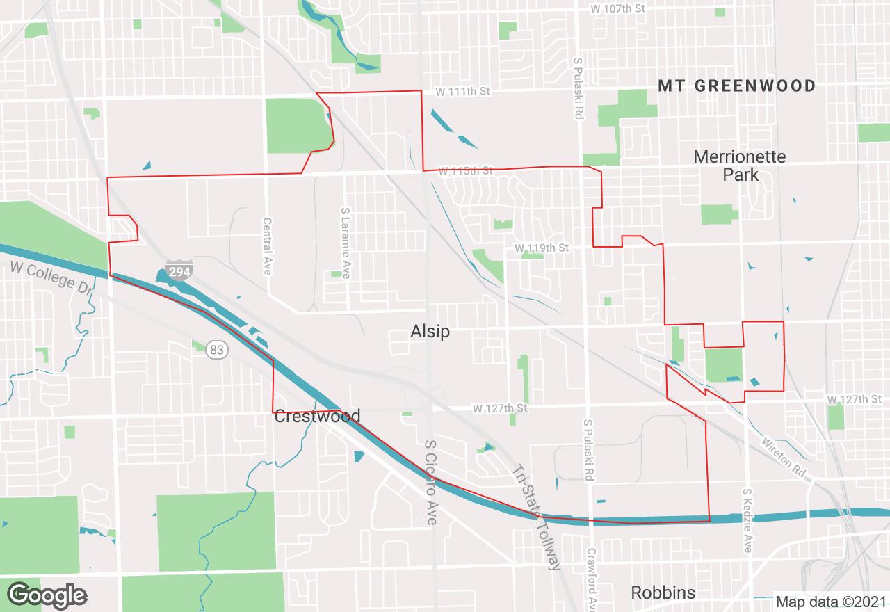 Alsip map
