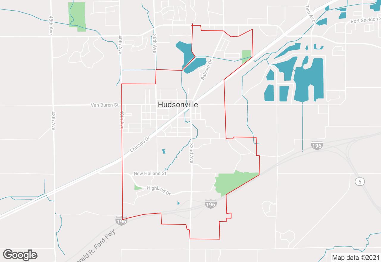 Hudsonville map