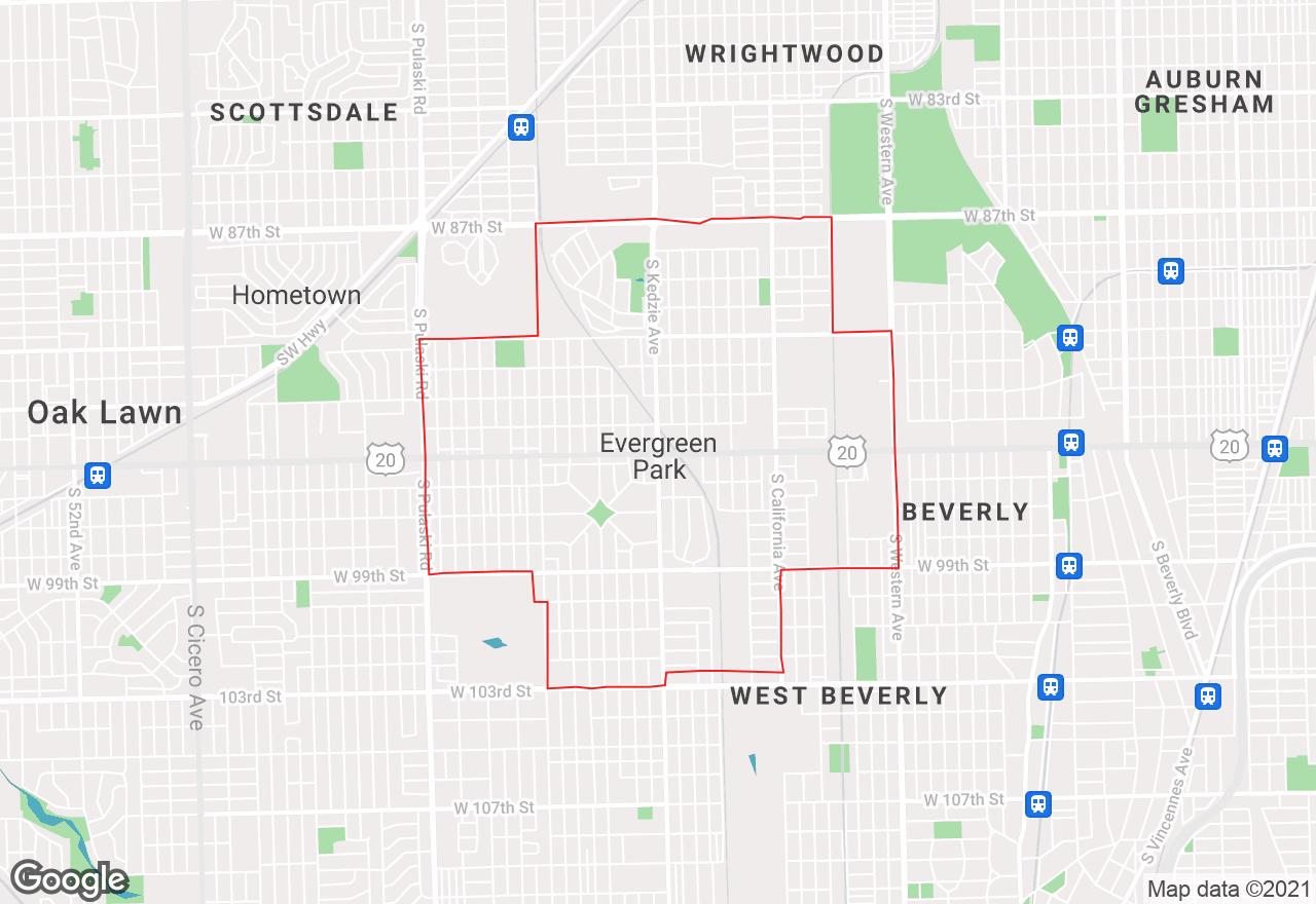 Evergreen Park map