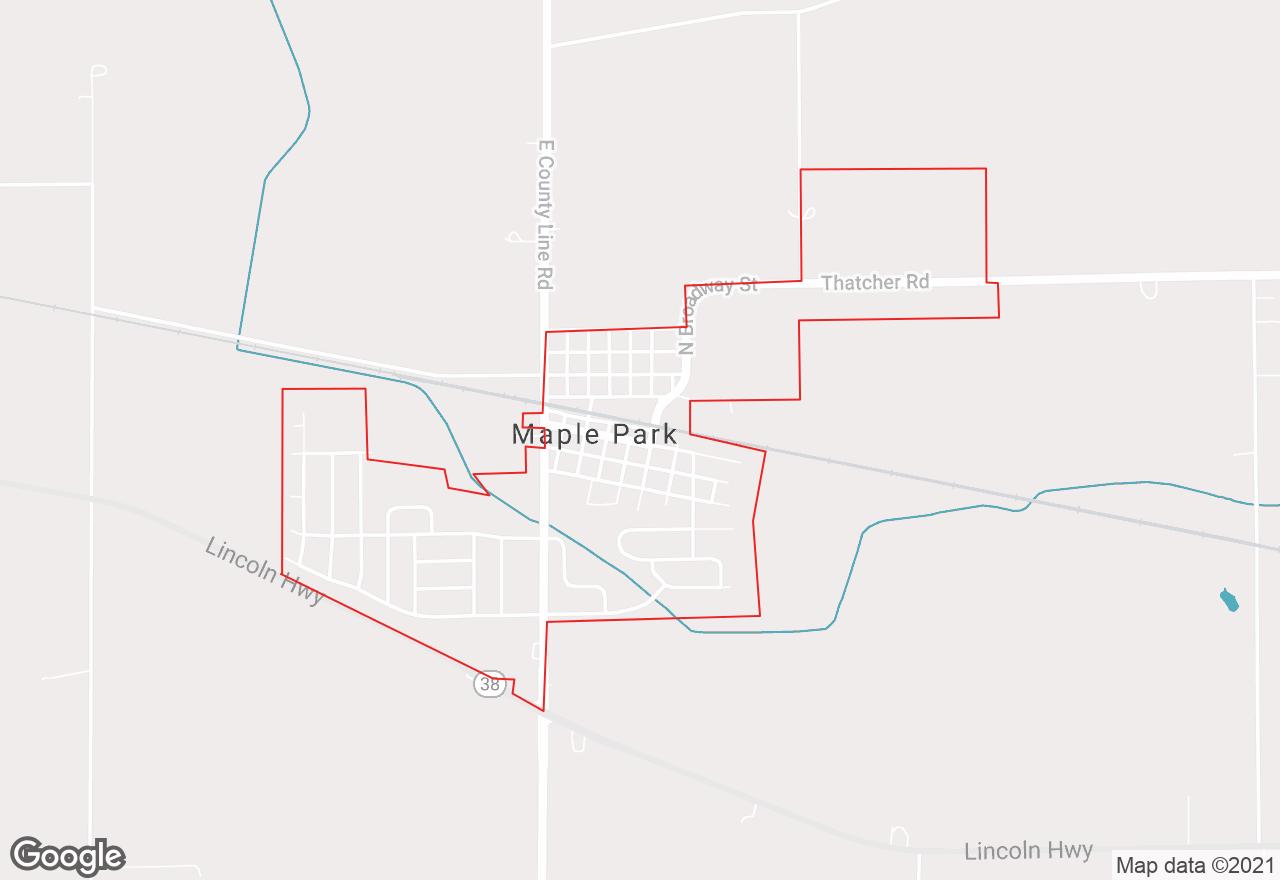 Maple Park map