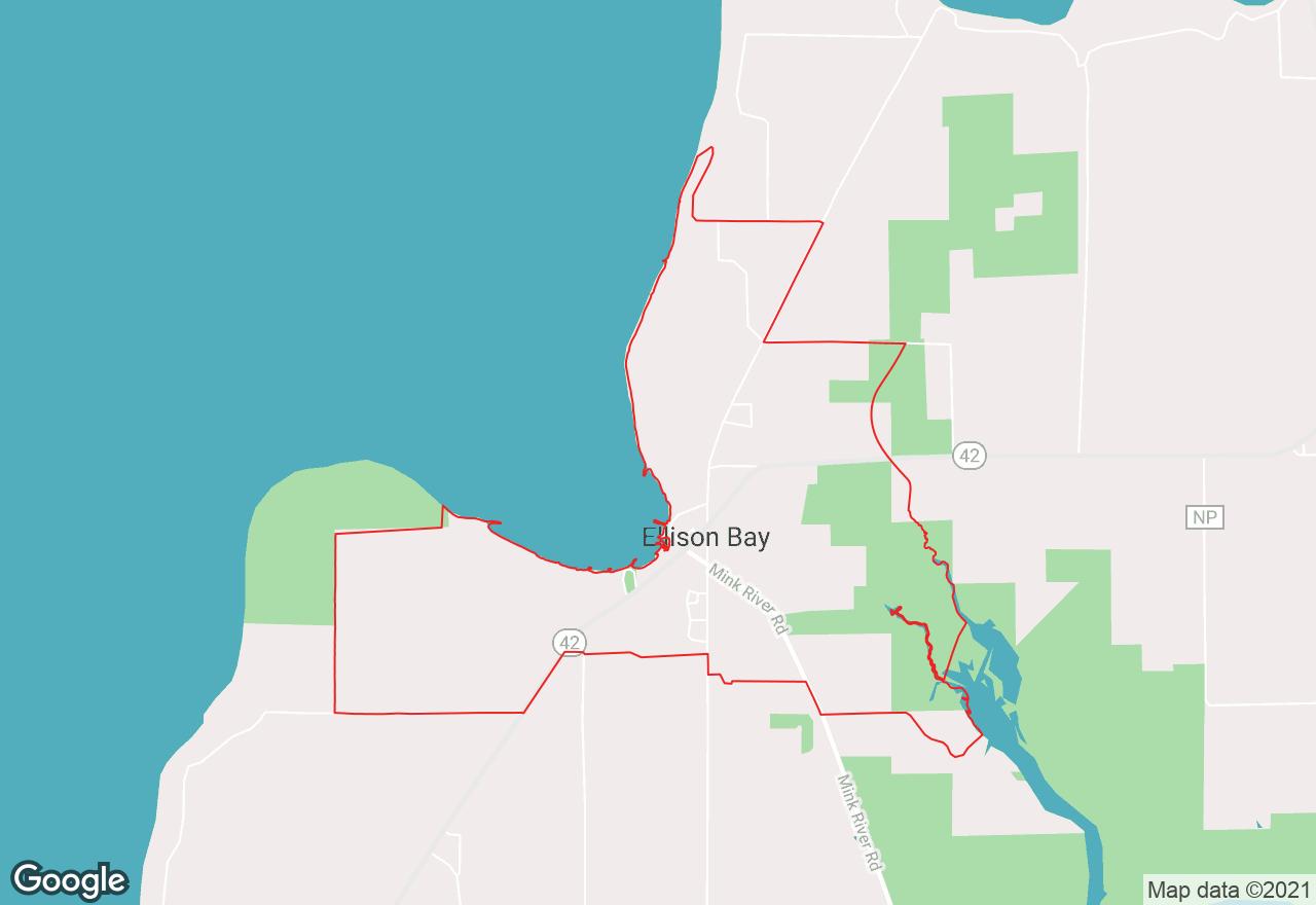 Ellison Bay map
