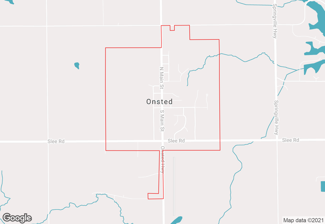 Onsted map