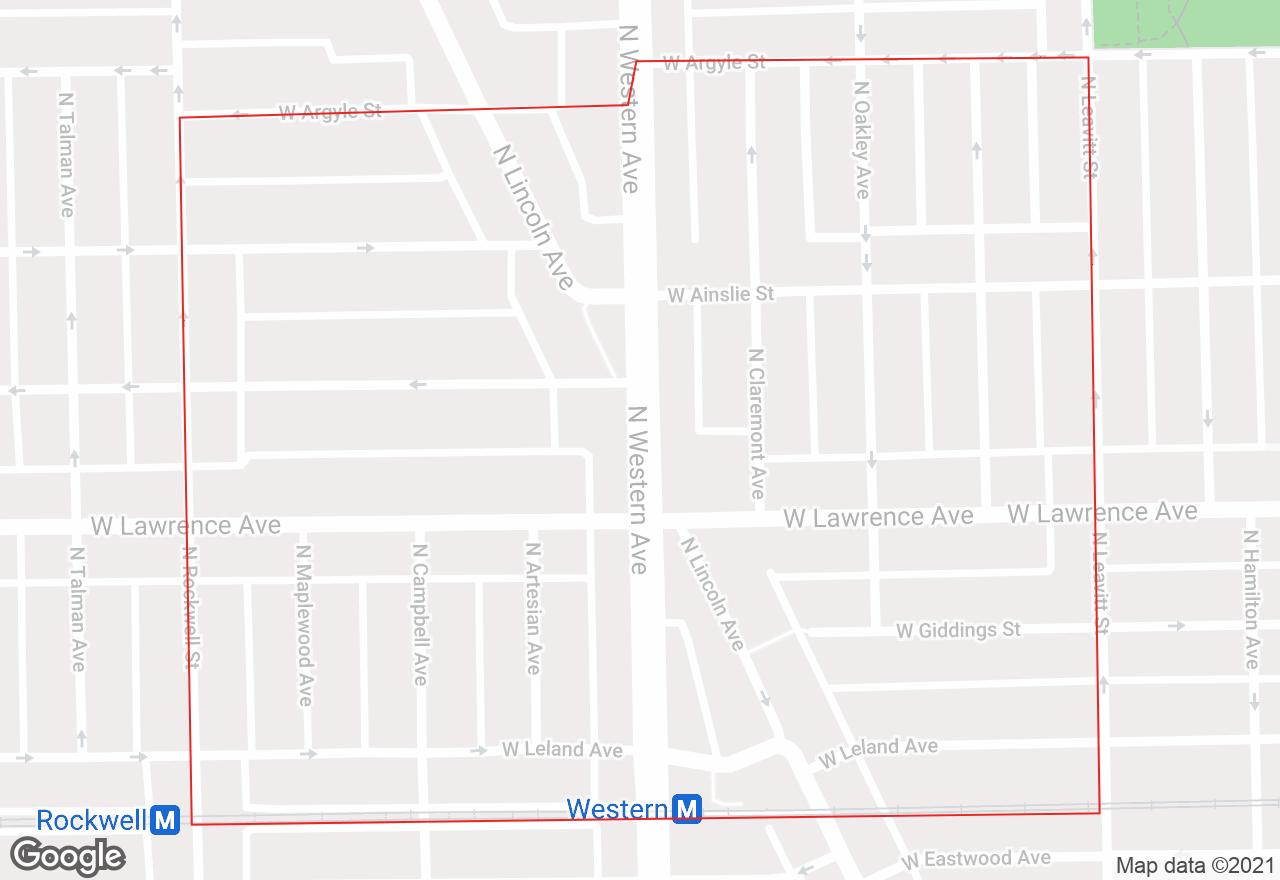 Lincoln Square map