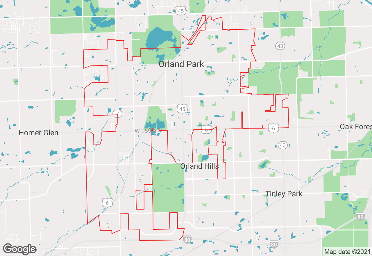Orland Park map