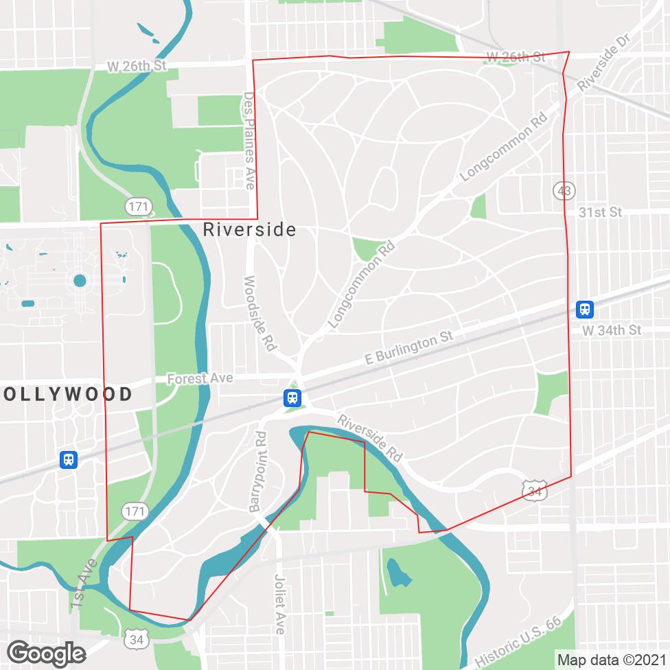 Riverside map