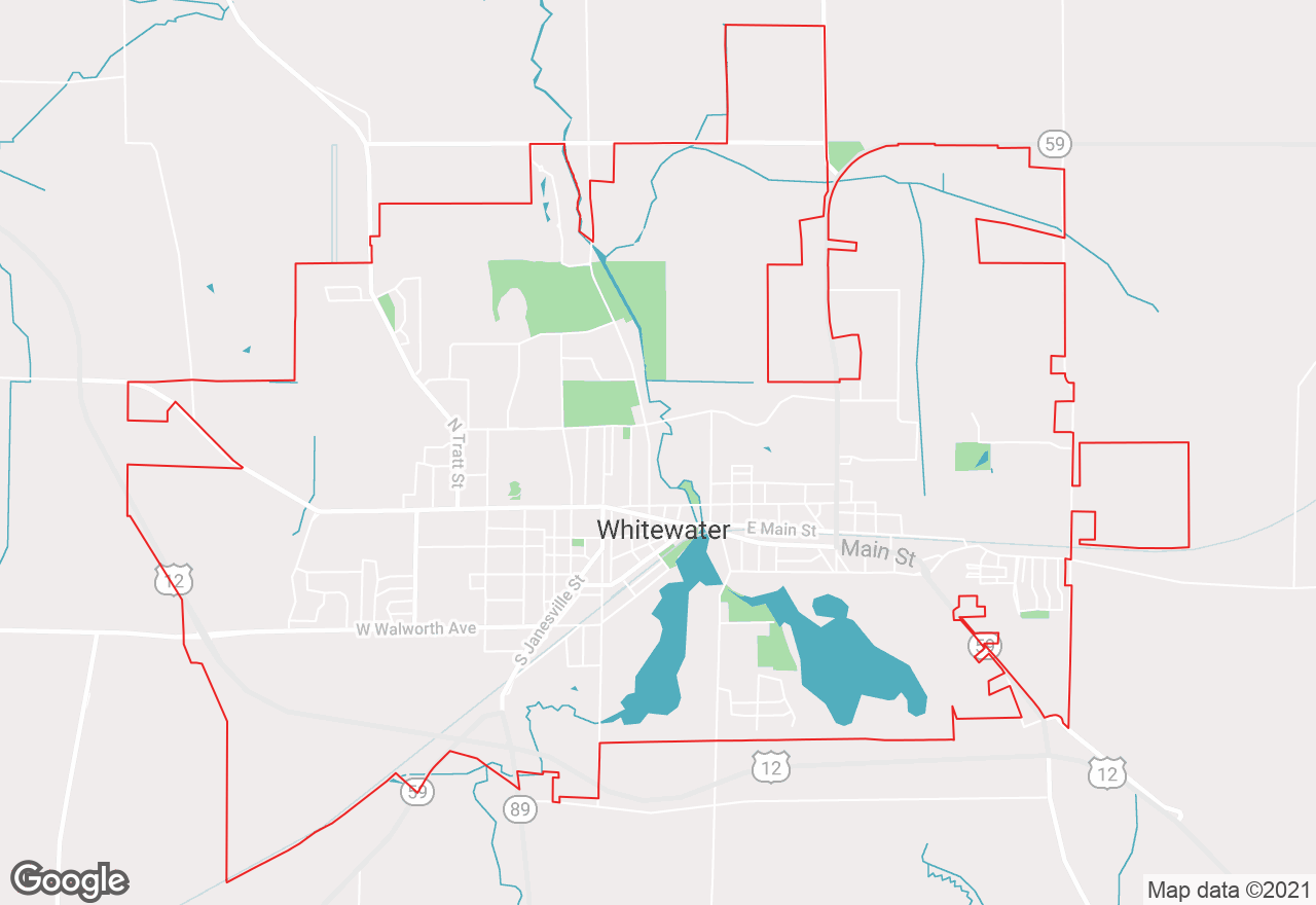 Whitewater map
