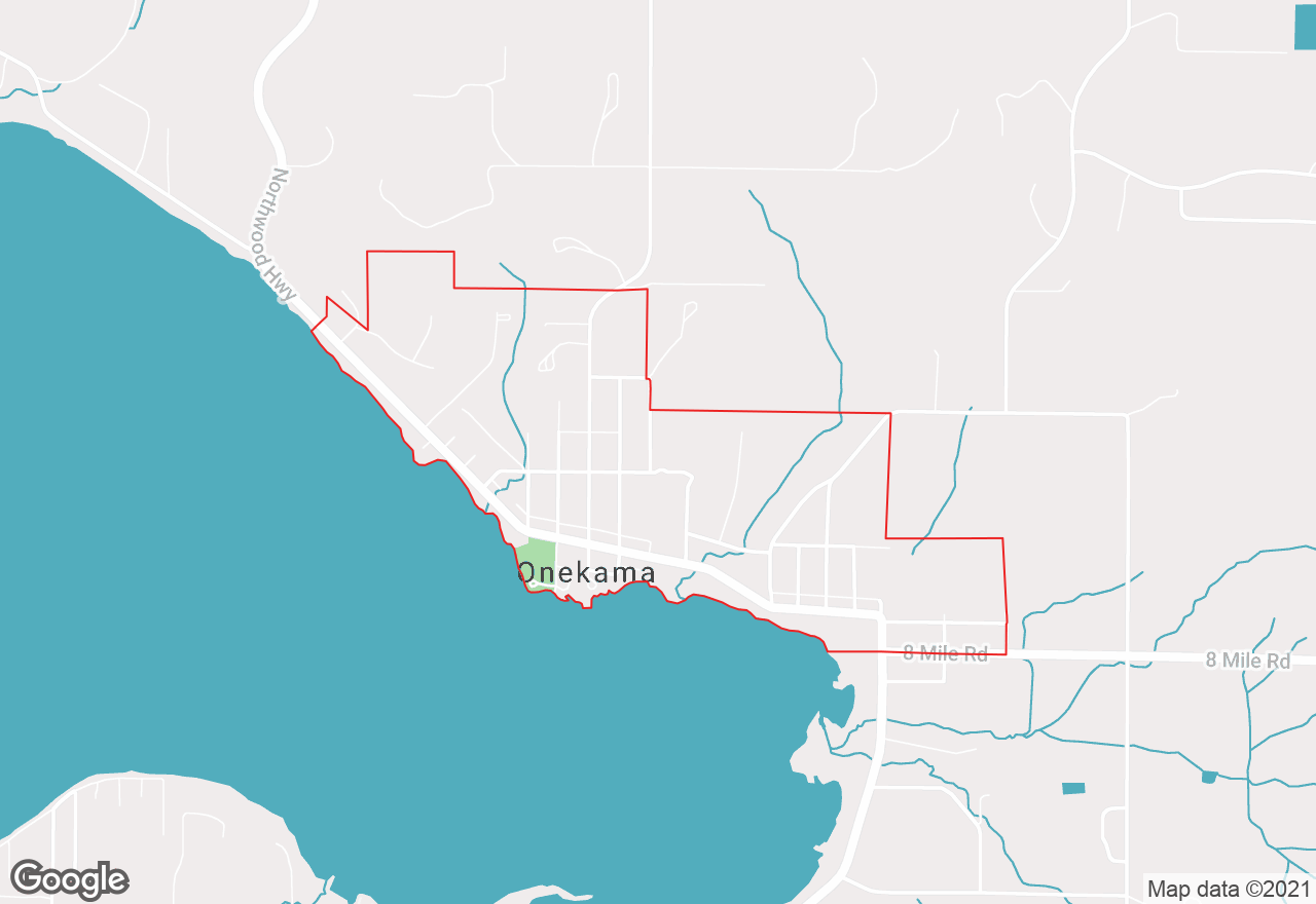 Onekama map