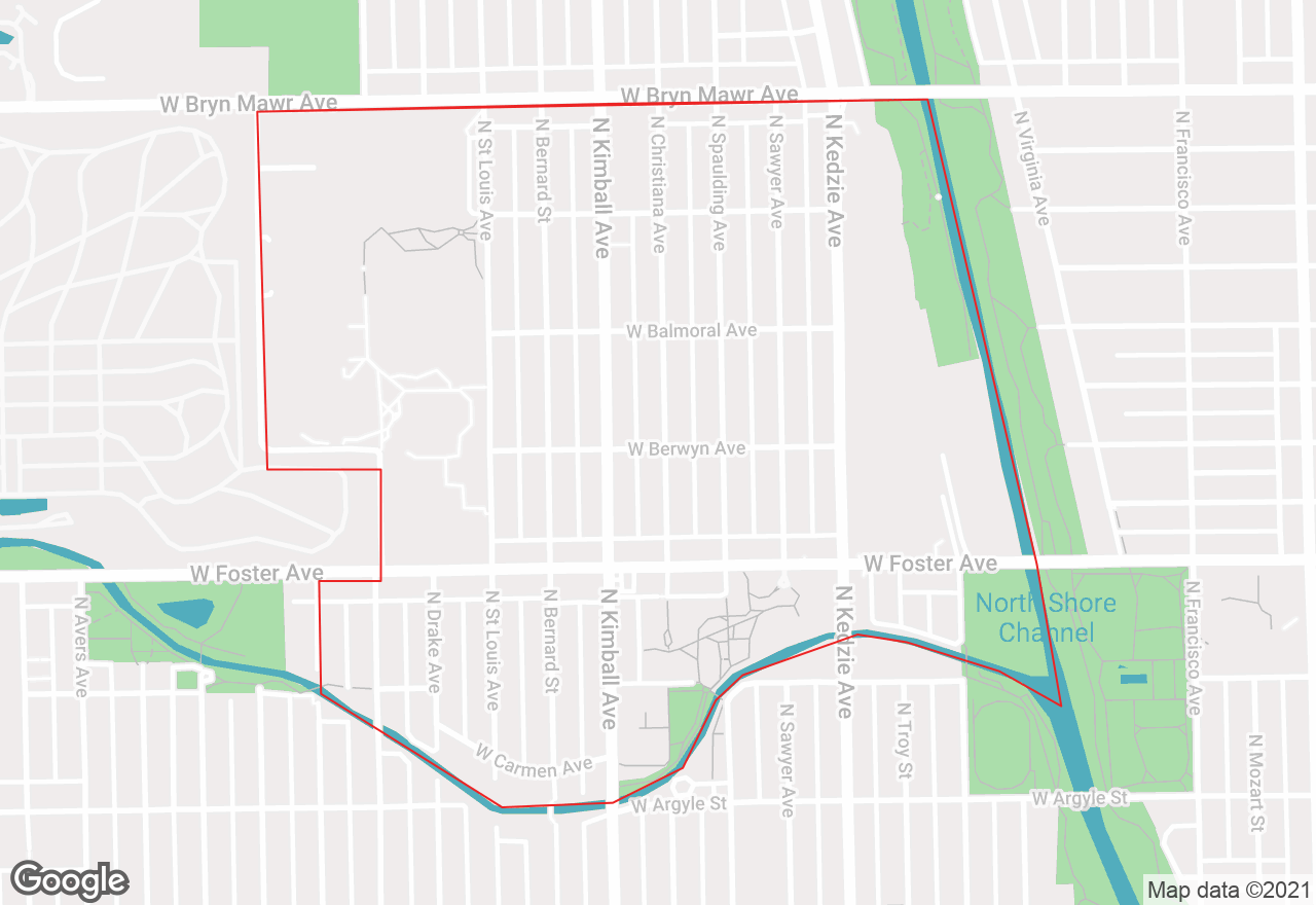 North Park map