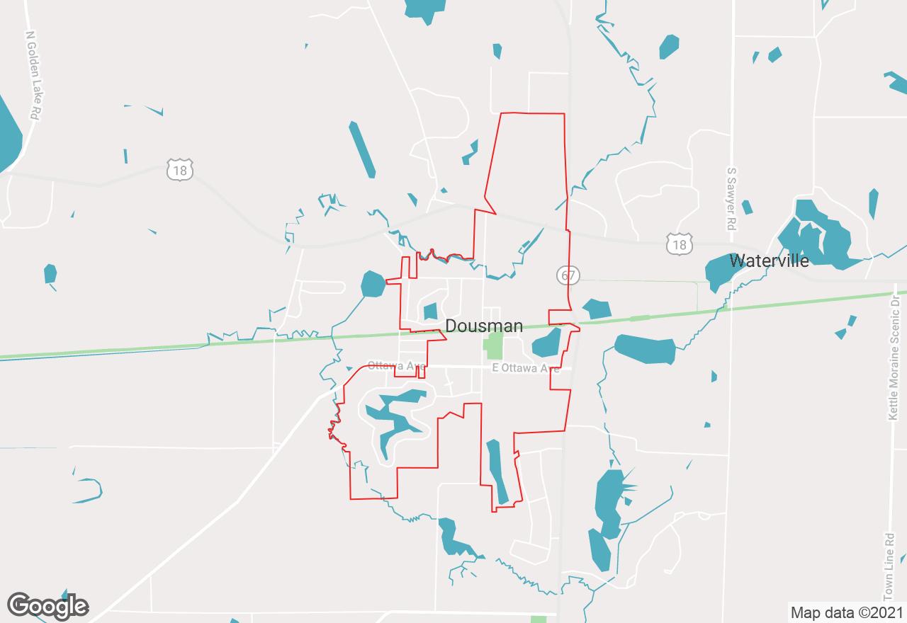 Dousman map