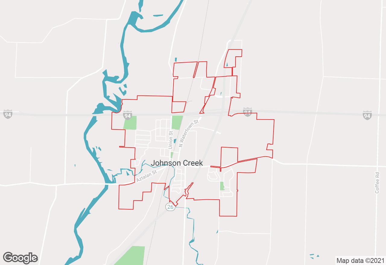Johnson Creek map