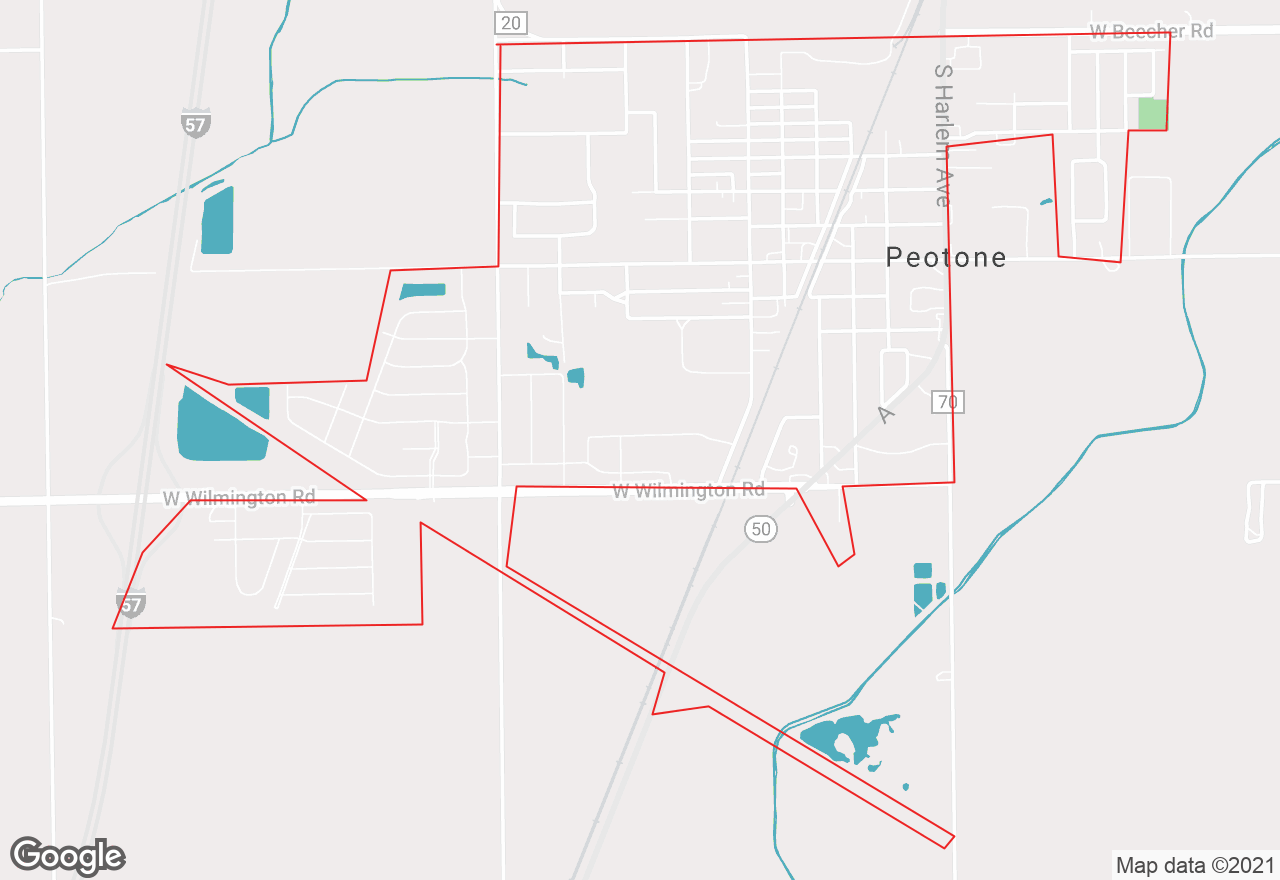 Peotone map