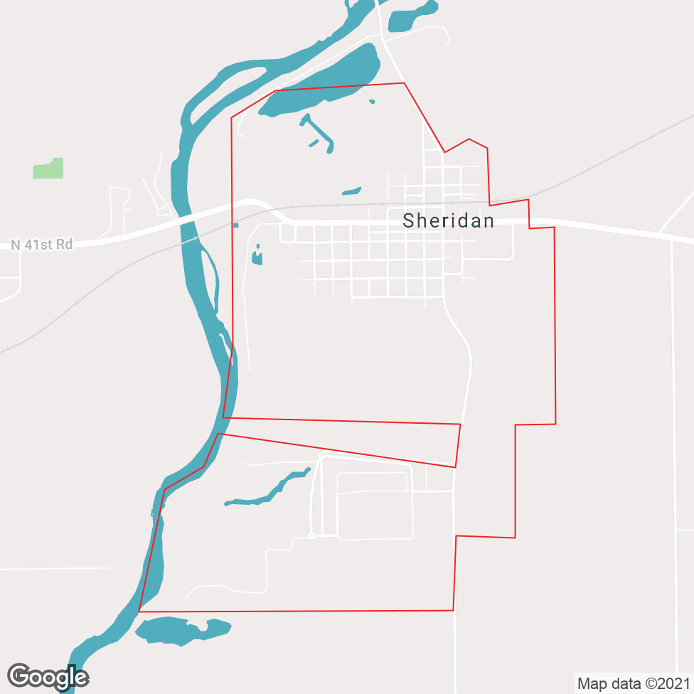 Sheridan map