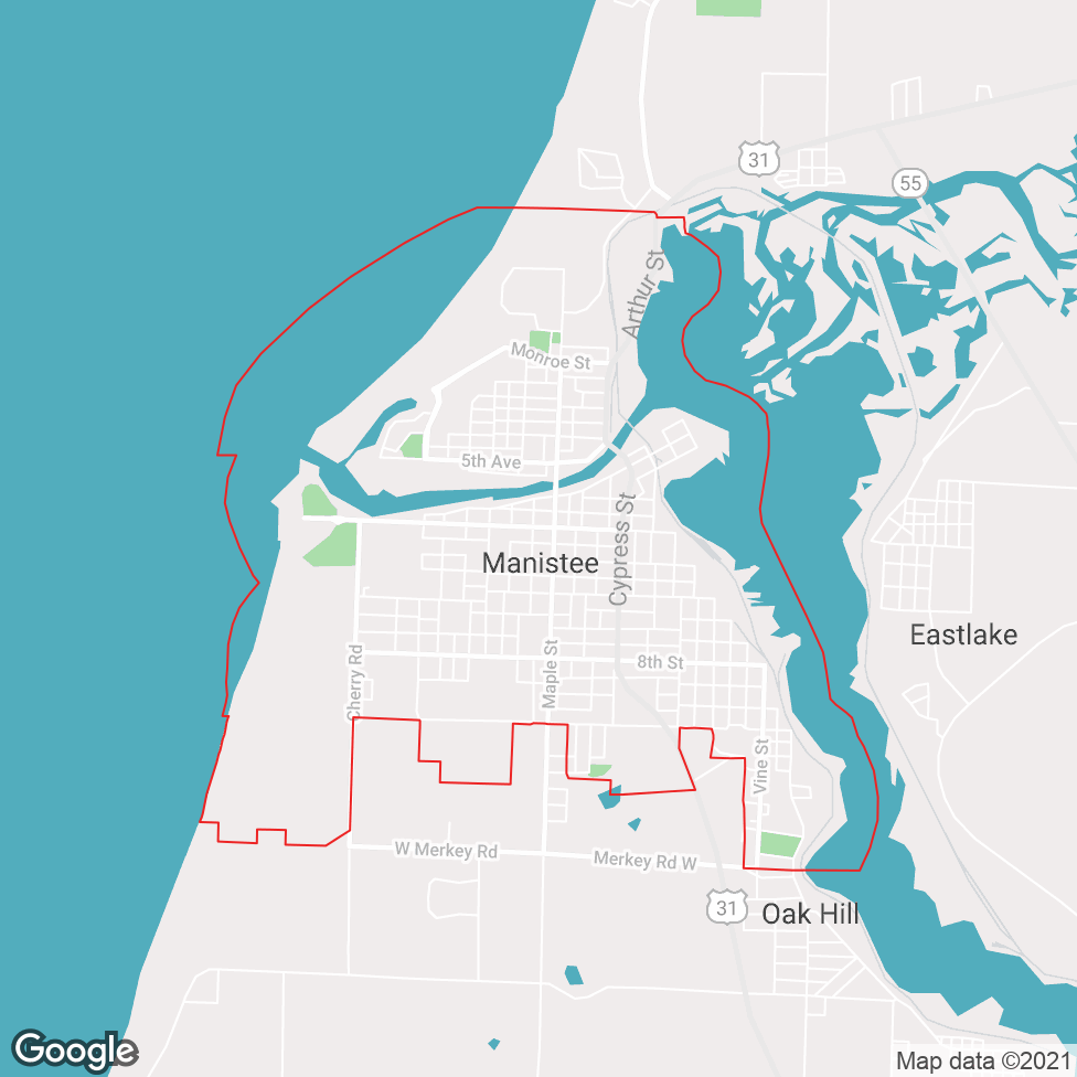 Manistee map