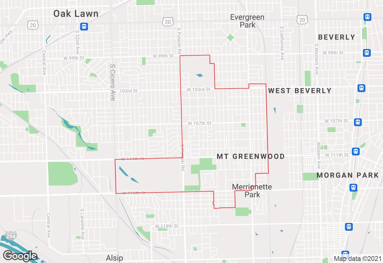 Mount Greenwood map