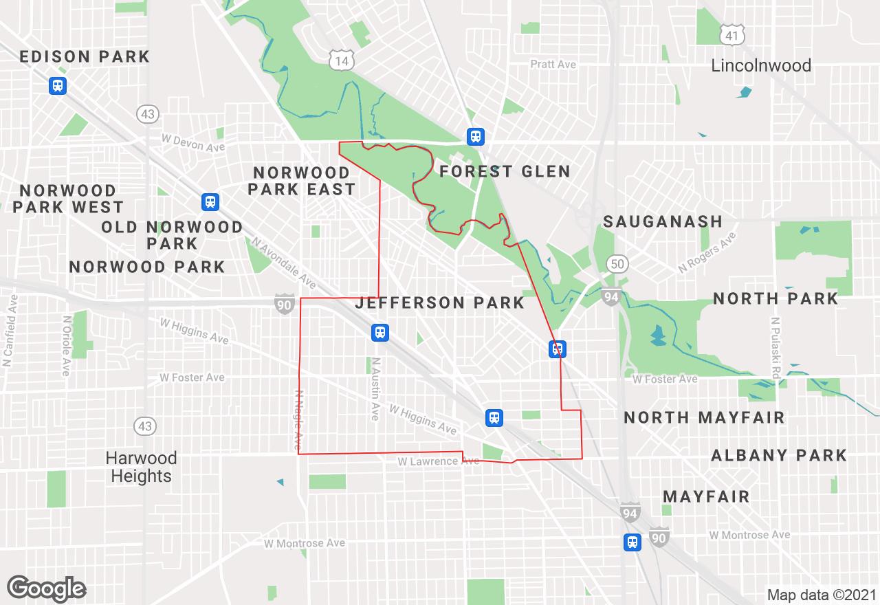 Jefferson Park map
