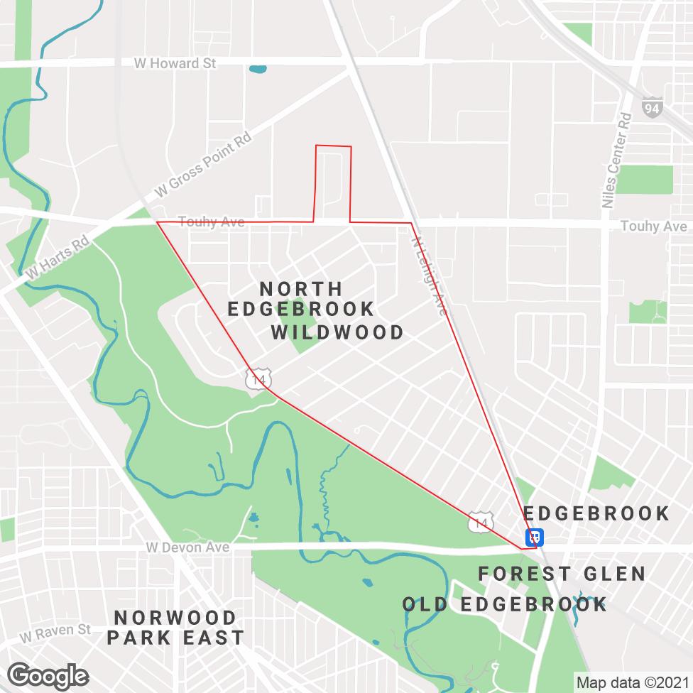 Wildwood - Chicago map
