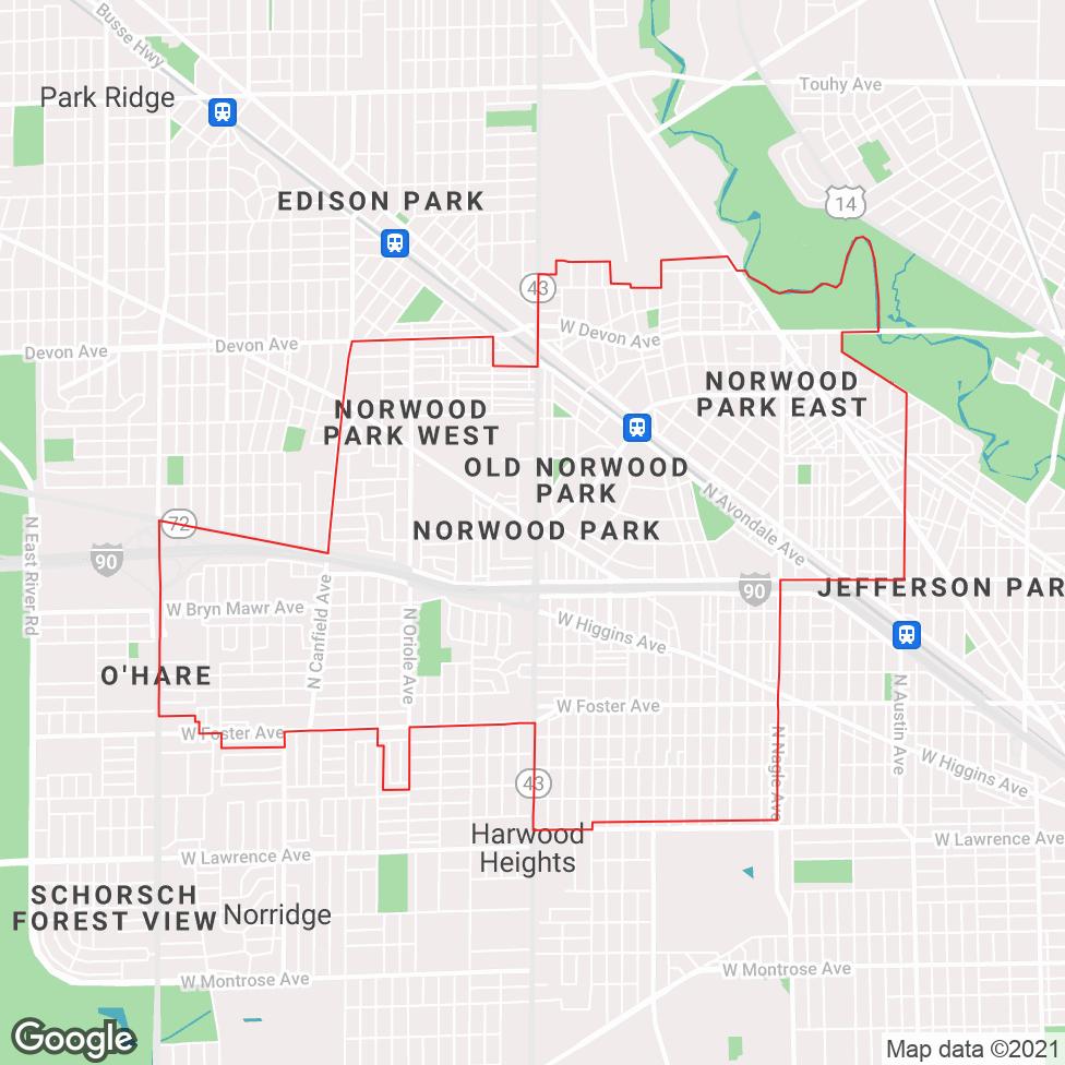 Norwood Park map