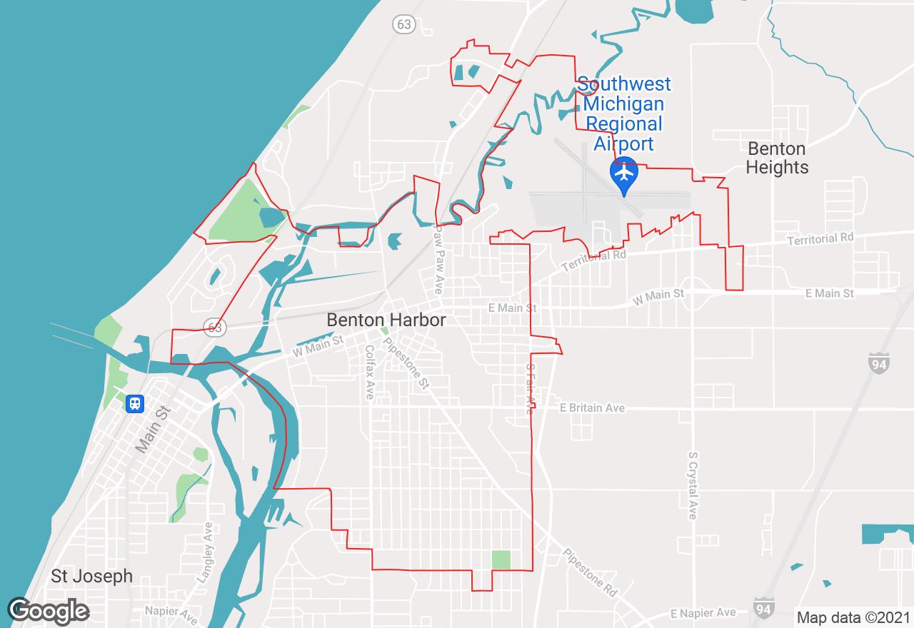 Benton Harbor map