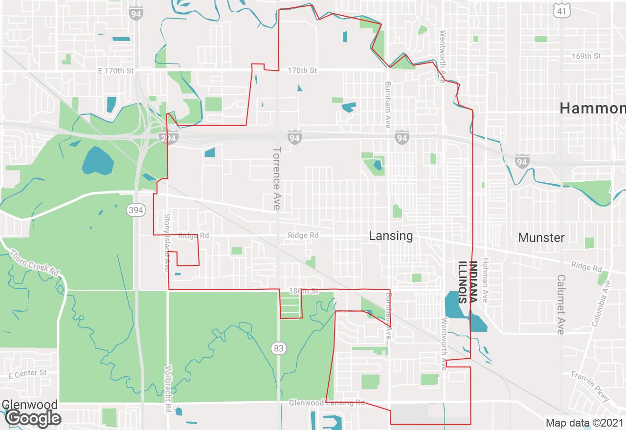 Lansing map