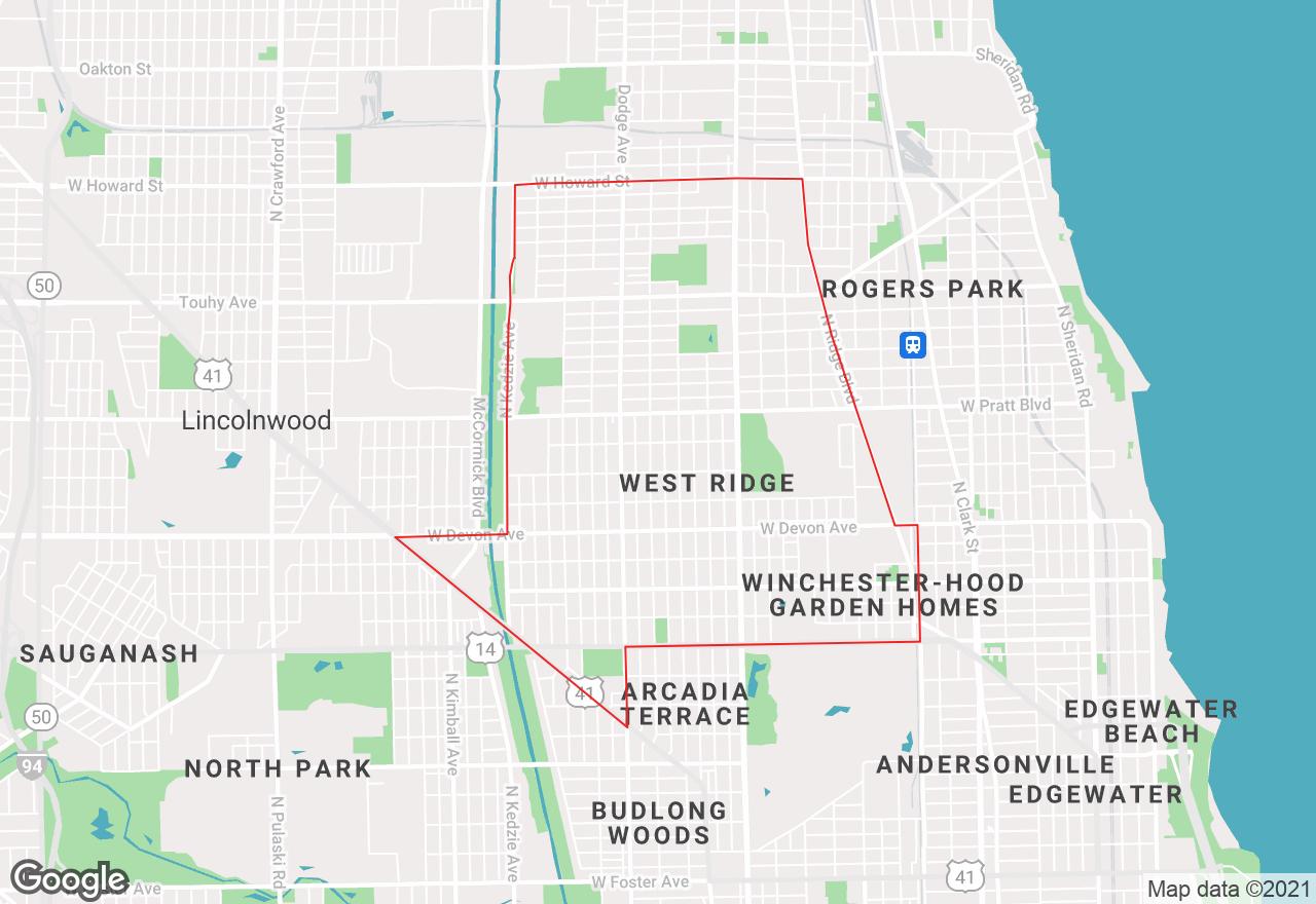 West Rogers Park map