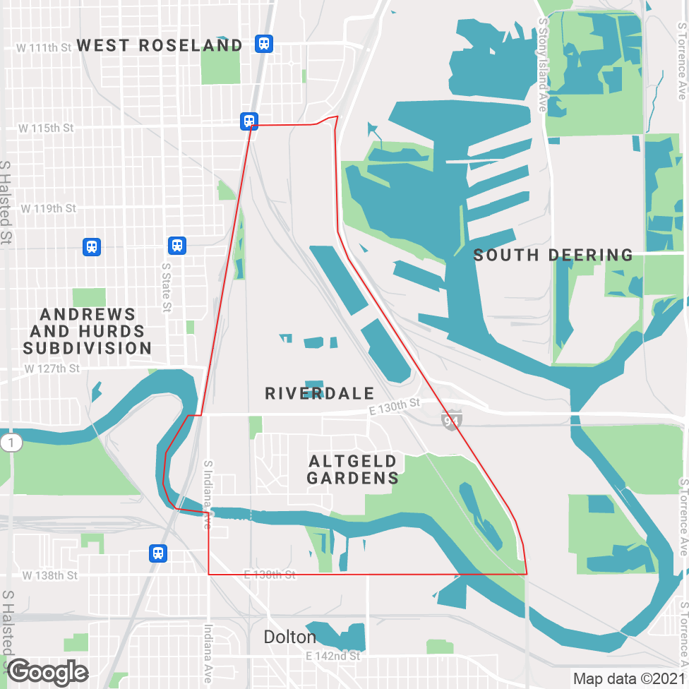 Riverdale - Chicago map